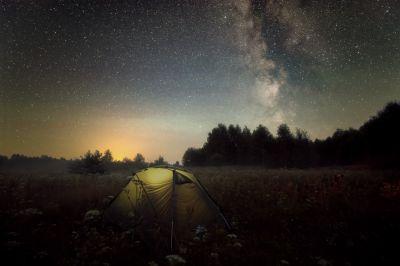 Ночь охоты за C/2020 F3 NEOWISE - астрофотография