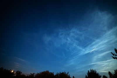 Noctilucent clouds - астрофотография