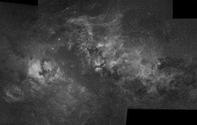 Cygnus hydrogen clouds - астрофотография