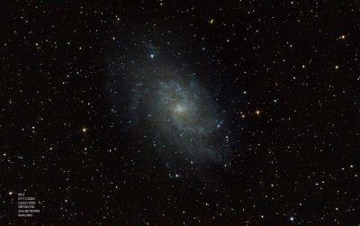 M33, Галактика Треугольника - астрофотография
