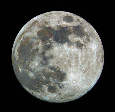 Moon rgb - астрофотография