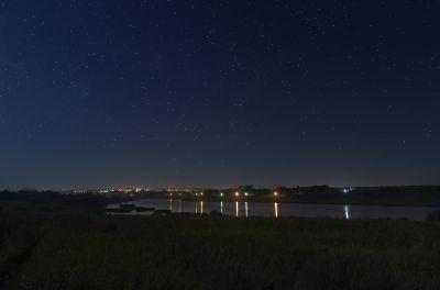 Звезда над городом - астрофотография