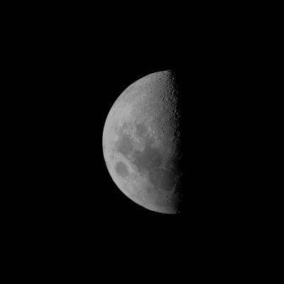 последняя четверть луны - астрофотография