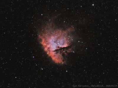 Туманность Пакман (NGC281). - астрофотография