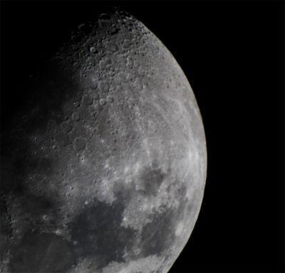 Луна, одиночный кадр - астрофотография