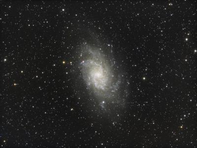 M 33 Triangulum Galaxy RGB - астрофотография