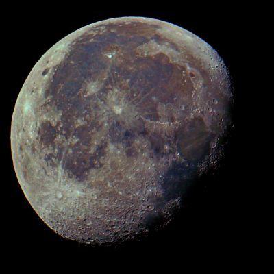 Луна в цвете - астрофотография