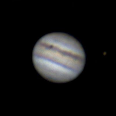Юпитер + Ганимед + тень Ио - астрофотография