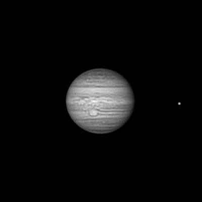 Юпитер и Ио в Инфракрасном диапазоне на длине волны 850нм 14.06.21 - астрофотография