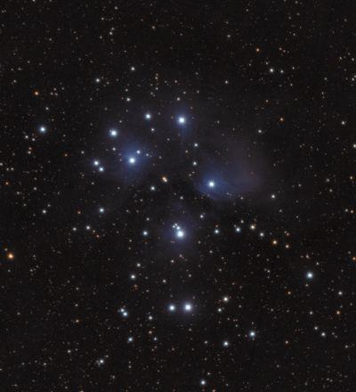 M45 Звёздное скопление Плеяды - астрофотография