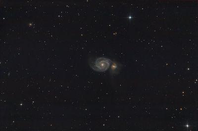 "M51 -""Водоворот"" - астрофотография"