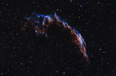 NGC6992 - Estern Veil Nebula in HOO - астрофотография