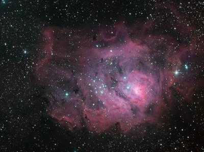 M8 lagoon nebula HLRGB - астрофотография