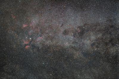 Участок млечного пути, созвездие Лебедя - астрофотография