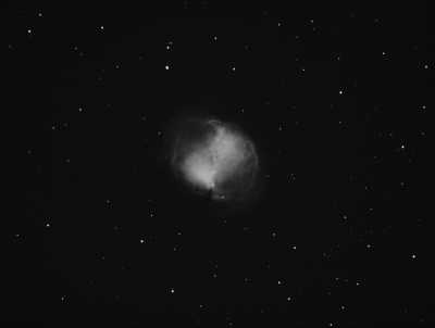M27 Dumbbell Nebula. OIII 500nm (Draft) - астрофотография