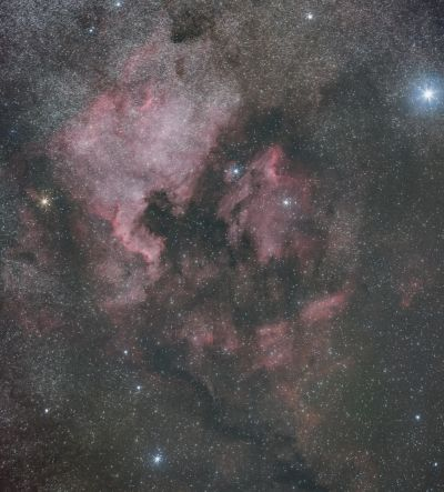 North America & Pelican nebulas - астрофотография