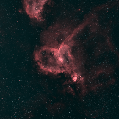 Туманность Сердце - астрофотография