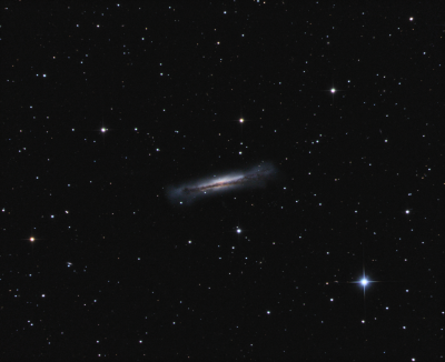 NGC 3628 Hamburger Galaxy in Leo LRGB - астрофотография