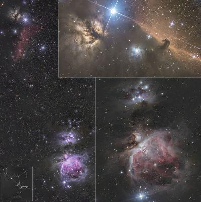m42, Horsehead nebula - астрофотография