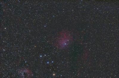 IC 405 Пламенеющая звезда - астрофотография