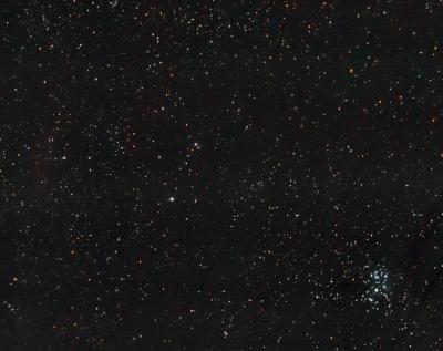 Плеяды и туманность Калифорния - астрофотография