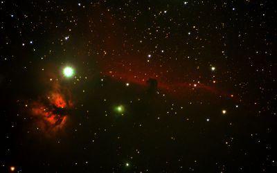 IC434, NGC2024 - Туманность Конская голова и туманность Пламя - астрофотография