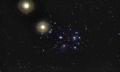 Venus in Pleiades (2 days in a raw) - астрофотография