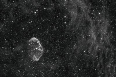 Полумесяц в облаках - астрофотография