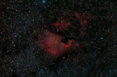 Северная Америка (NGC 7000) - астрофотография