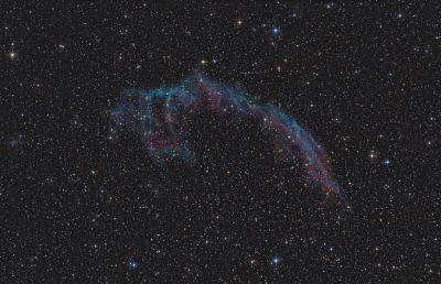 Eastern Veil Nebula - NGC6992, NGC6995, IC1340 - астрофотография