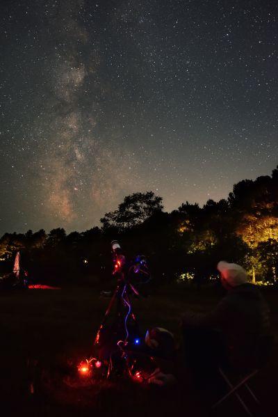 В процессе съемки - астрофотография