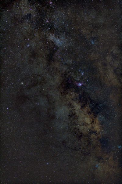 M8, M20, M16, M17 - Core of Milky Way - астрофотография