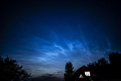 Серебристые облака - астрофотография