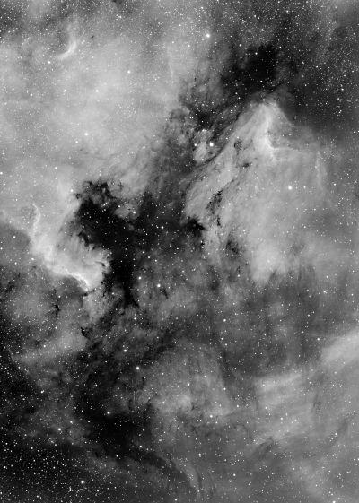 Пеликан и Северная Америка - астрофотография