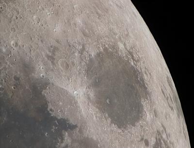 Луна 180423, море Кризисов - астрофотография