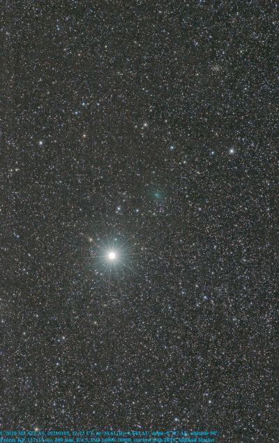 C/2020 M3 ATLAS and the Capella star - астрофотография
