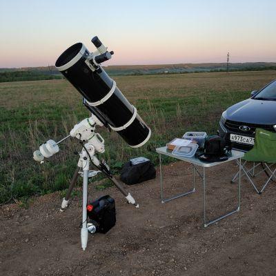 Sky_Watcher BK P250 OTAW Dual Speed + Sky-Watcher EQ6-R - астрофотография