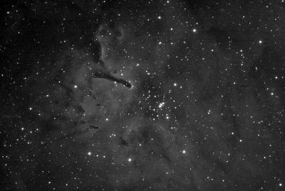 Космическая Палка (NGC 6820) - астрофотография