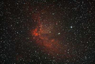 NGC7380. Туманность Колдун. - астрофотография