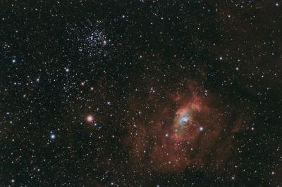 Новая V1405 Cas во время вспышки - астрофотография