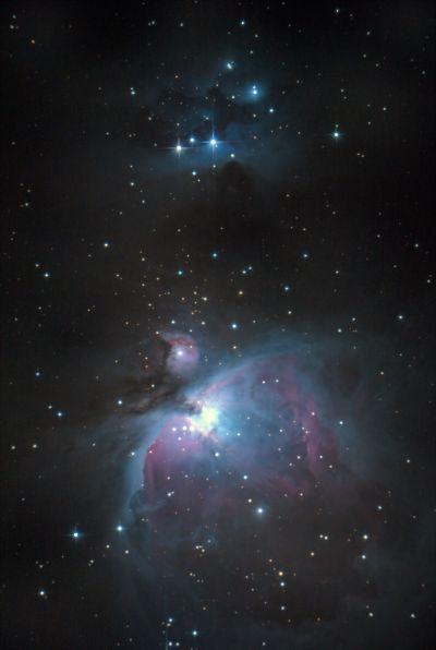 M42- The Great Orion Nebula and Running Man Nebula. - астрофотография