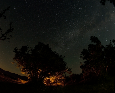 Под ночным небом или посиделки у костра - астрофотография