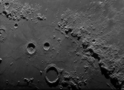 Лунные горы - астрофотография