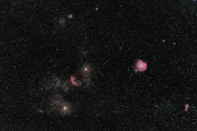 Окрестности скопления М35 в созвездии Близнецов - астрофотография