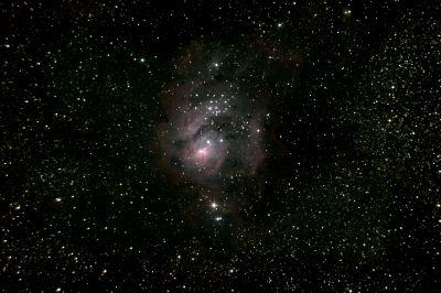 M8 (NGC 6523) Lagoon Nebula - астрофотография
