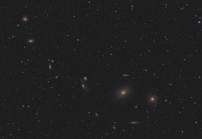 Markarian's Chain - M84, M86, etc. - астрофотография