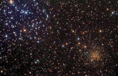 Два скопления (M 35 и NGC 2158) - астрофотография