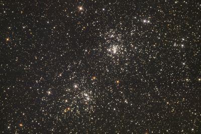 Двойное рассеянное скопление Хи-Аш Персея - астрофотография