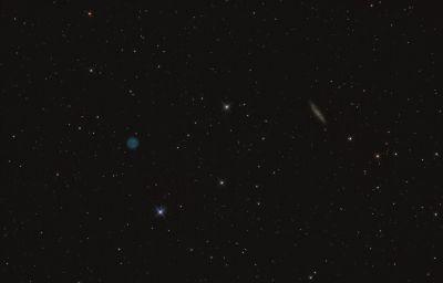 Туманность Сова и галактика М108 - астрофотография