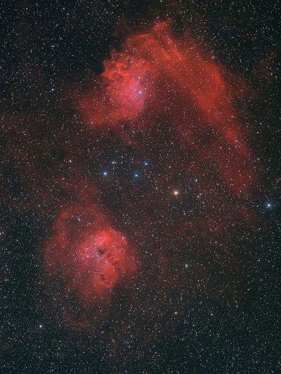 IC405 и IC410 - астрофотография